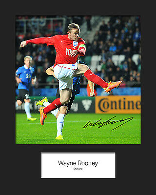 WAYNE ROONEY #6 10x8 SIGNED Mounted Photo Print - FREE DELIVERY
