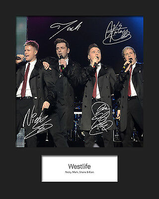 WESTLIFE #1 10x8 SIGNED Mounted Photo Print - FREE DELIVERY