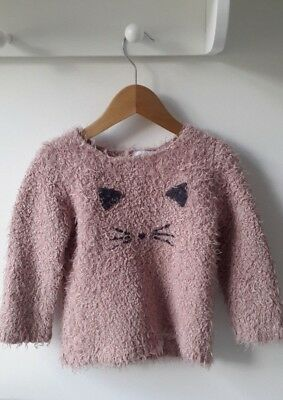La Redoute 'R Baby' Girls Pink Jumper Cat (3-4 years)