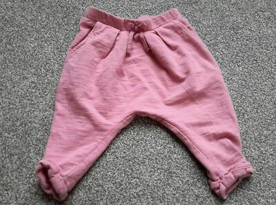 Next Baby Girl Pink Joggers Trousers (3-6 months)