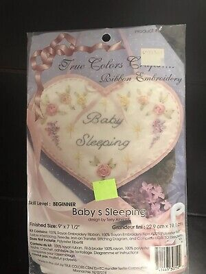 True Colors Crafts- RIBBON EMBROIDERY- Baby's Sleeping - Beginner