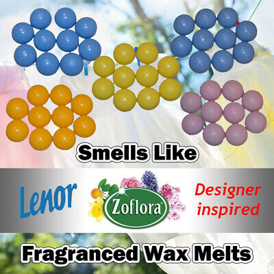 10 x Highly Scented Wax melts Zoflora Lenor Unstoppables Fragrance Soy Handmade