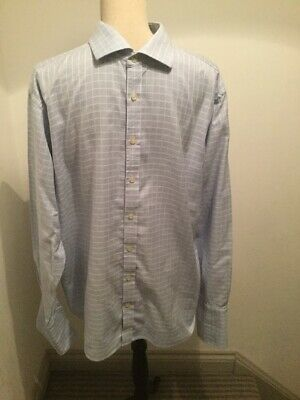 Clothing, Shoes & Accessories Mens Shirt Long Sleeve By Marks And Spencer 15 1/2 Inch Collar Casual Button-down Shirts