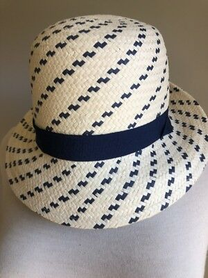 98a7a127 WOMEN'S SCALA COLLEZIONE Straw Raffia Sun Hat Black Ribbon - One ...