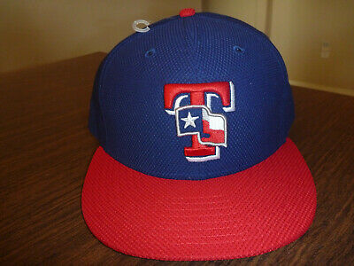 official photos 3d5fb c58b7 Texas Rangers New Era 59Fifty On-Field Diamond Era Blue Fitted Hat Size 7 5