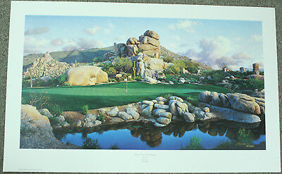 "Larry Dyke ""Number One at the Boulders"" Signed Limited Edition Golf Print 1993"