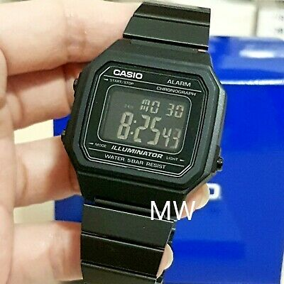 Casio Stainless Steel Pvd Black B650Wb-1Aef Alarm Unisex Digital Light Watch