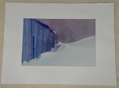 Winter First Snow Central Park NY Signed Robert Farber Limited Edition Photo