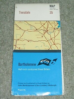 Bartholomews Half Inch Map - Teesdale - sheet 35 - on paper - 1968