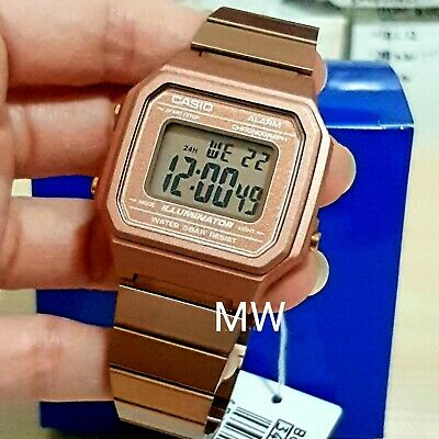CASIO ROSE GOLD B650WC-5 ALARM UNISEX Ladies Men's DIGITAL LIGHT WATCH Steel New
