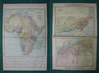 North America Maps Vintage 1899 North America Map ~ Authentic Original 110 Year Old 80618 Maps, Atlases & Globes