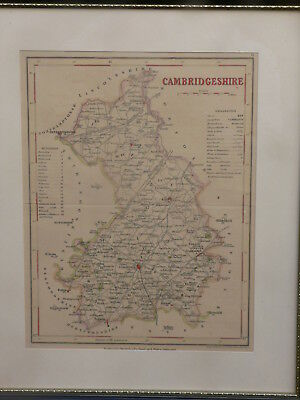 """Cambridgeshire"" antique map J Archer 1840"