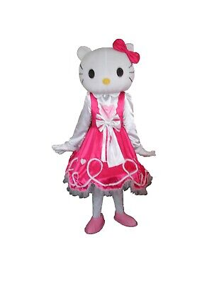 Fancytrader New Adult Size Pink Hello KT Mascot Costume Free Shipping FT20047