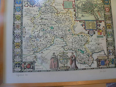 Reproduction John Speed Map of Oxfordshire