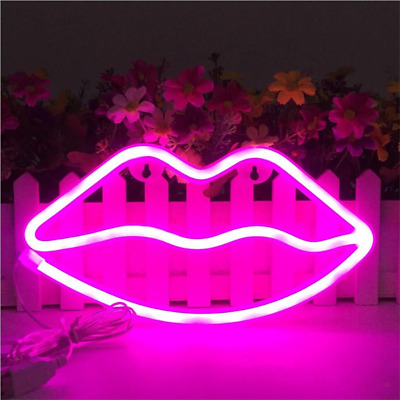 Lip Shaped Neon Signs Led Neon Light Art Decorative Lights Wall Decor for Baby