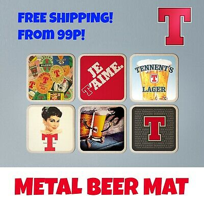 TENNENTS Extra LAGER inspired Scotland Scottish T Mug Coaster Bar Pub Beer Mat