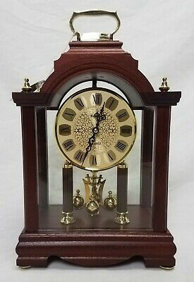 Vintage German Kundo Anniversary Mantel Clock - Quartz Movement Excellent Cond.