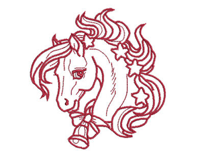 Christmas Horses - 20 Machine Embroidery Designs  10 In 4X4 & 10 In 5X7 Hoop