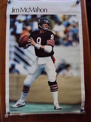 0a84d9a0d5d SEALED 1983 Original JIM MCMAHON Chicago Bears Poster SI Sports Illustrated