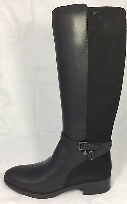 Geox Women's Shoes Felicity D84G1C Boot knee length low heel leather black