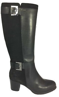 4edc878d0c5 New Geox Amphibiox Lise Leather Suede Women High Boots Buckle 41 10.5