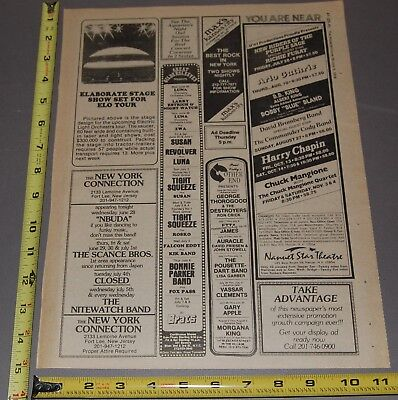 The Aquarian June 28-July 5 1978 Concert Ad ELO Electric Light Orchestra BB King