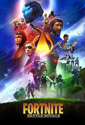 FORTNITE Battle Royale Poster Wall Art - Infinity War Parody - 11x17 13x19