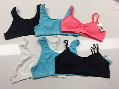 57d28308f1 FRUIT OF THE Loom Seamless Everyday Bras 28 30 32 34 36 Big Girls ...