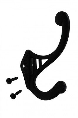 "Black Wrought Iron Hook RSF 4 1/2"" H X 2 3/4"" Projection 