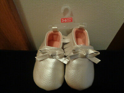 01265adff Carters Just One You Pink/White Fringes Bows Baby Slipper Shoes Size 3-6