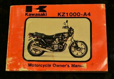 1979 1980 kawasaki kz1000-a4 motorcycle owner's owners manual w/ wiring  diagram