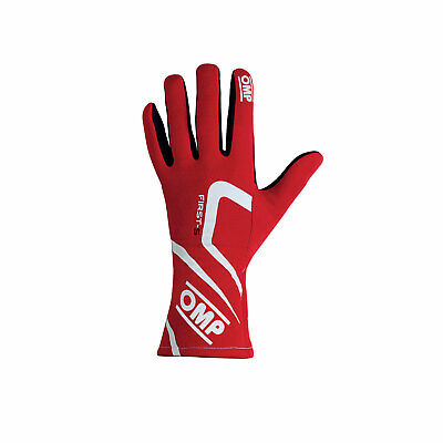 OMP FIRST-S MY18 Red Racing Gloves (FIA) - Genuine - L