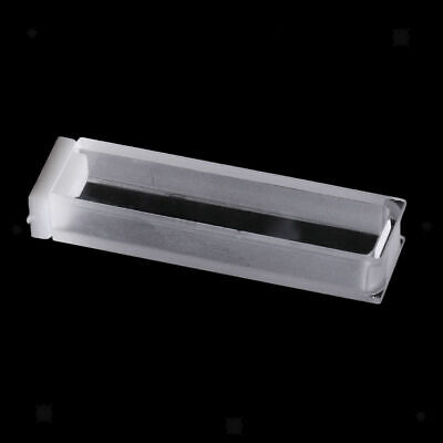 CN_ 2Pcs 5mm Path Quartz Cuvette With Stopper For Fluorescence Spectrometer