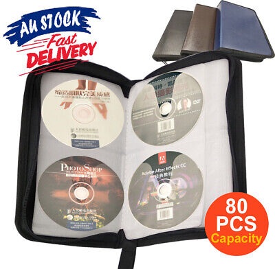Portable Discs CD DVD Storage Cases Bags Wallet PU Leather Holder Capacity