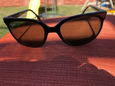 Bausch & Lomb Ray-Ban Made in France Glossy Black Cats Eye Sunglasses