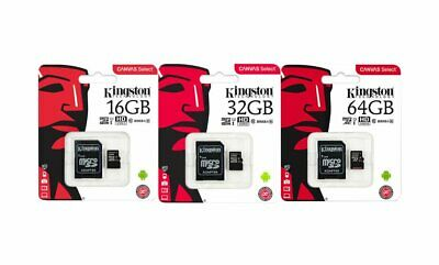 Kingston 16GB 32GB 64GB Micro SD SDHC / SDXC Class10 Memory Card TF with Adapter
