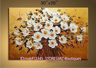 Textured blooming Flower Hand painted Oil Painting Wall Art Decor NO Frame YH762