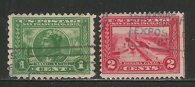 KStamps Lot B116 Scott # 397 & # 398 Pan-Pacific Expo Used No Reserve