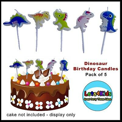 Dinosaur Birthday Party Small Candles Supplies