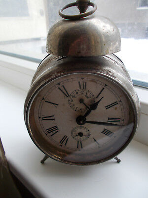 Antique Junghans Alarm Clock Made In Germany