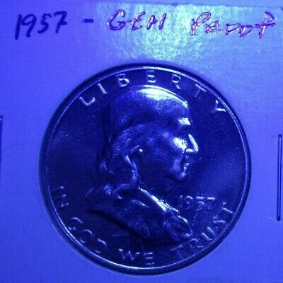 (1) 1957 Franklin Half Dollar ~ Proof Cam~Better Date Coin~ AWESOME PROOF LUSTER