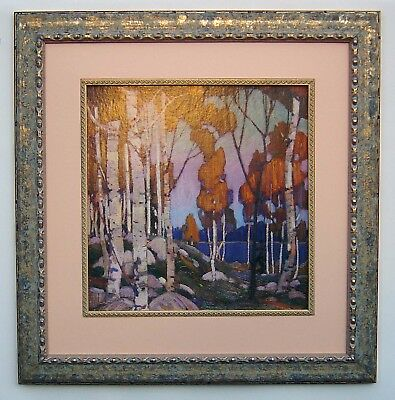 """Tom Thomson, Group of Seven """"Birches"""" in Frame"""
