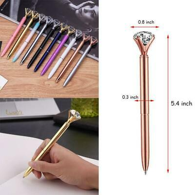 1PC Bling Diamond On the Top Quality Scepter Crystal Ballpoint Pen Good Gift Pen
