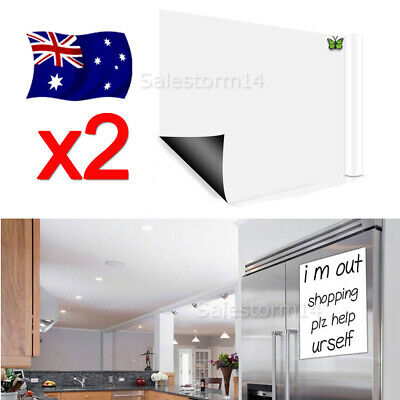 2X A4 Fridge Magnetic Whiteboard Family Office Board Memo Reminder Magnet AUZ