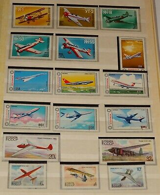 Worldwide Stamps Airplanes Collection Complete Sets Mnh