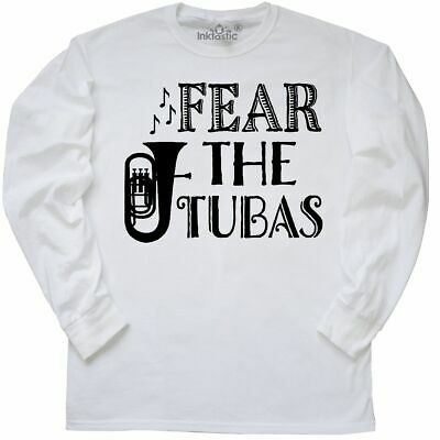 6657be14 Inktastic Fear The Tubas Funny Marching Band Music Long Sleeve T-Shirt Tuba  Camp