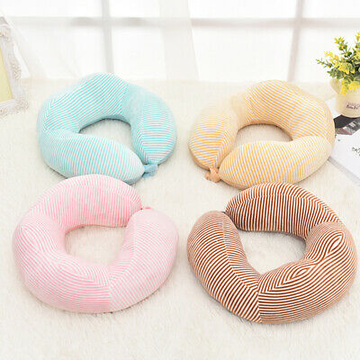 PP Cotton Foldable U shaped Neck Support Pillow Cushion Travel Air Plane Sleep