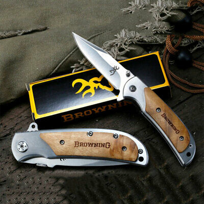 Browning Outdoor Folding Pocket Knife Tactical Camping Hunting Survival Dagger