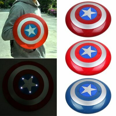 Captain America Plastic Shield with LED Light & Sound Kids Cosplay Toy Gift New