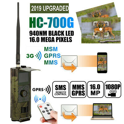 1080P 16MP 3G/2G Hunting Trail Camera Wildlife Scouting Cam IR Night Vision MMS